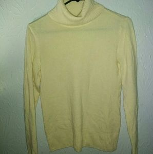 New Caslon M 100% Cashmere Sweater Yellow